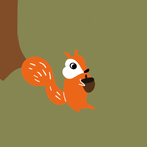 A mischievous squirrel with a bushy tail.